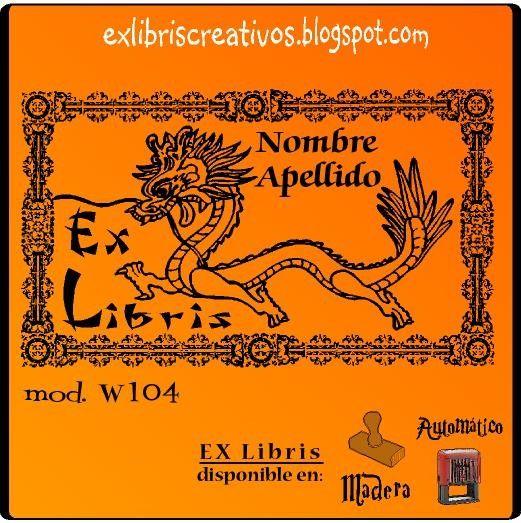 #ExLibris Dragon oriental Referencia  W104 El #dragón es un animal #mitológico y legendario de las culturas asiáticas que dispone de partes de nueve animales: ojos de langosta, cuernos de unicornio, morro de buey, nariz de perro, bigotes de bagre, melena de león, cola de serpiente, escamas de pez y garras de águila.
