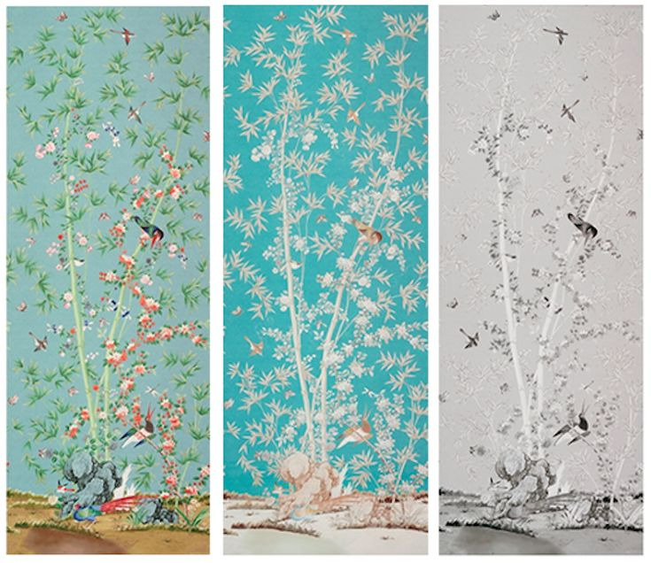 298 best images about schumacher fabrics and wallcovering for Chinoiserie mural wallpaper