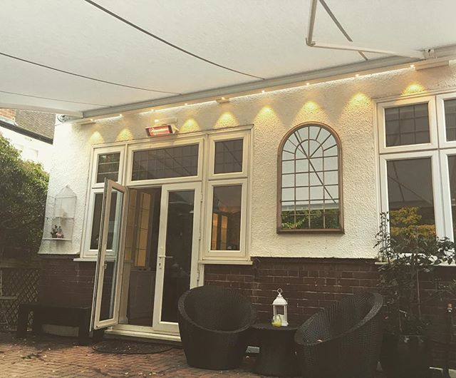 An Awning Including Led Lights And A Heater All Controlled From A