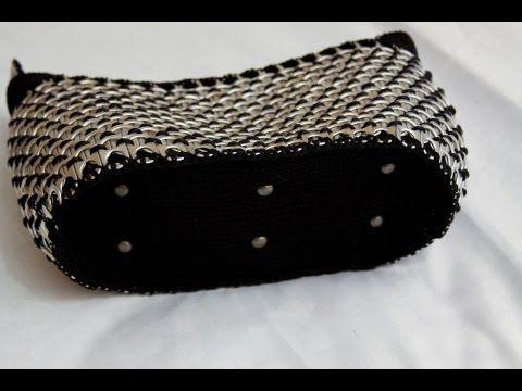 ▶ Como hacer una bolsa con anillas de lata: Bolsa Interesante Parte 2 - YouTube