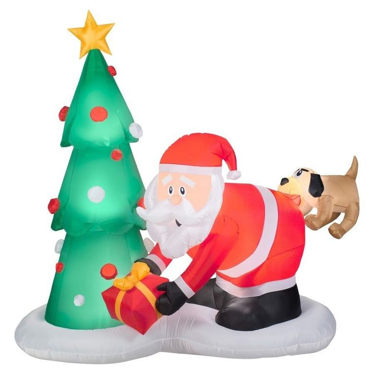 #Christmas #Outdoor #Inflatable #Decoration #Yard 6ft #Inflatable #Santa and #Dog New