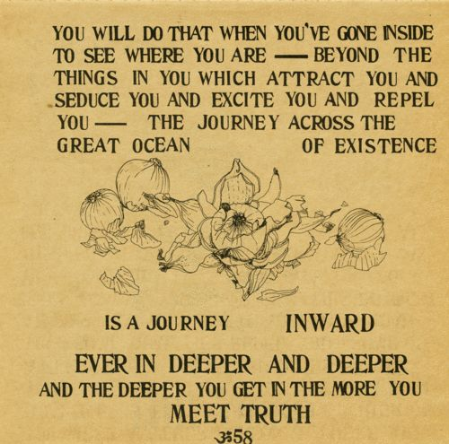 An exceprt from one of my all-time favorite books, Baba Ram Dass's Be Here Now