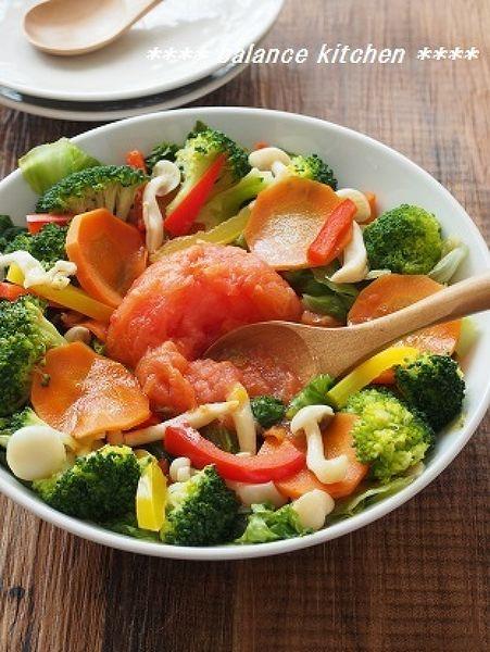 まるごとレタス&トマトの蒸し野菜サラダ  by 河埜 玲子 | レシピサイト「Nadia | ナディア」プロの料理を無料で検索