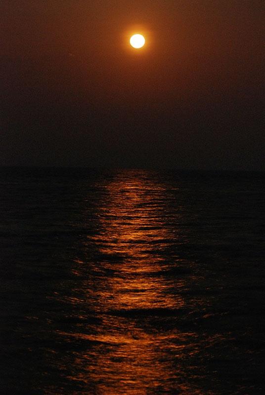 いつもよりも力強いお月様の輝き。   これも太陽の光の反射ですよね。   いかに太陽が凄いかがよくわかります。