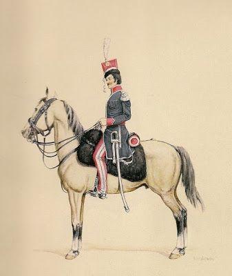 Napoléon et la révolution en Pologne.Officier de l'krakuzov de régiment. 1813.