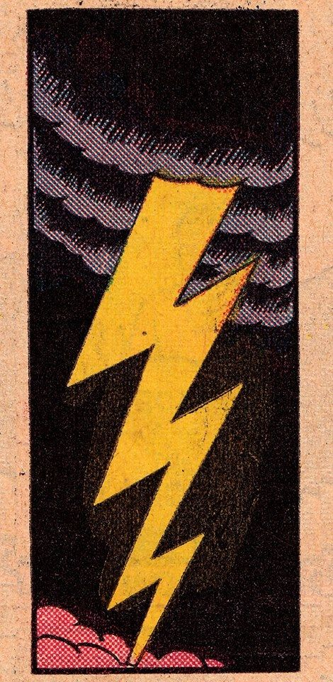 Retro vintage comic book pop art illustration lighting bolt