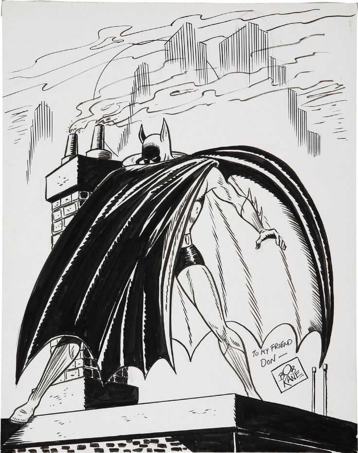 Undated Bob Kane Batman sketch