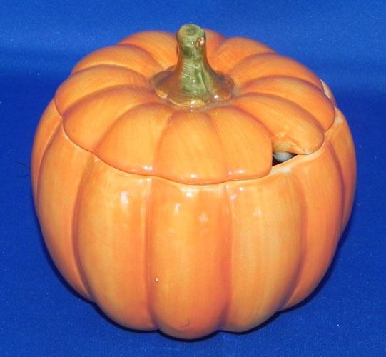 Halloween/Thanksgiving Ceramic Pumpkin Sugar Bowl w/Lid Otagiri Japan #Otagiri
