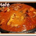 Le mafé (ou maffé) est une recette originaire du Mali que l'on retrouve dans la cuisine sénégalaise. C'est un plat à base de viande...