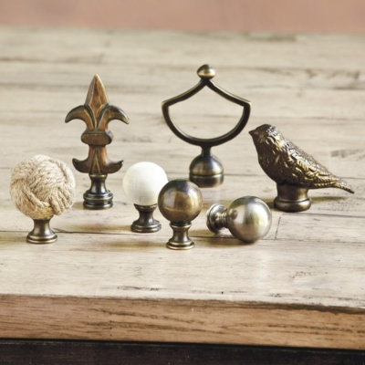 bird finials. Black Bedroom Furniture Sets. Home Design Ideas