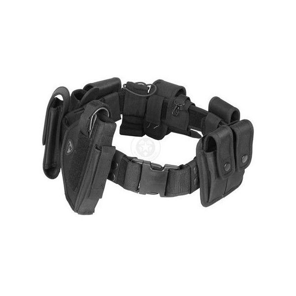 Tactical Utility Belt with Holster Modular POLICE Duty Gear BLACK (130 BRL) ❤ liked on Polyvore featuring weapons, belts, accessories, army and guns