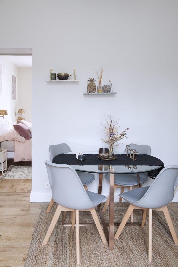 Sejour Design Ambiance Scandinave Salon Table En Verre Et