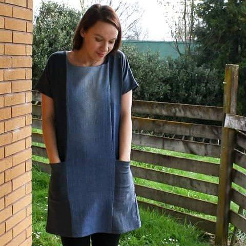 Must have #pockets :) my garment for my challenge this week and #therefashioners2016 challenge too!  #blogpostup stitchremedy.com #sewing #sewingblogger  #denim #denimdress #refashion #recycle