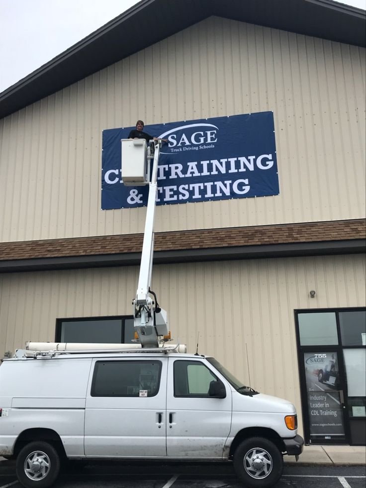Sage Truck Driving School in Lebanon, PA putting up a new