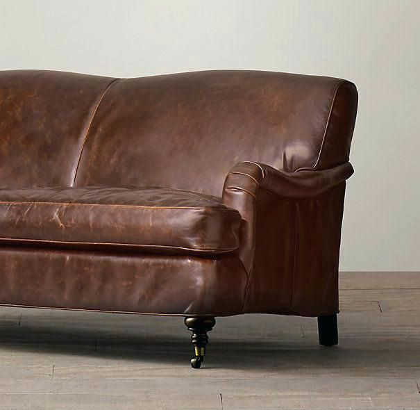 Traditional Rolled Arm Sofa Elegant Rolled Arm Leather Sofa Turner