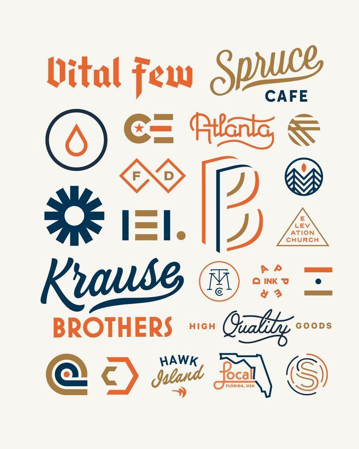 2016 logo design trend portfolio dribbble