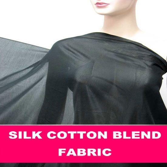 Tissu coton de soie de doublure Super Black confortable de 0,5 mètre (tonBlack X 0,5 mètre)
