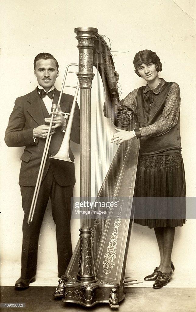 Musical duo Rev. and Mrs. S.E. Ramseyer, circa 1930.