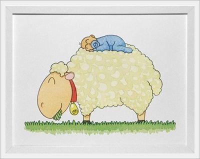 pajarito azul cuadros para la decoracin de la habitacin del beb