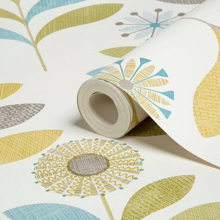 Opera Tamara Green Floral Wallpaper   Departments   DIY at B&Q
