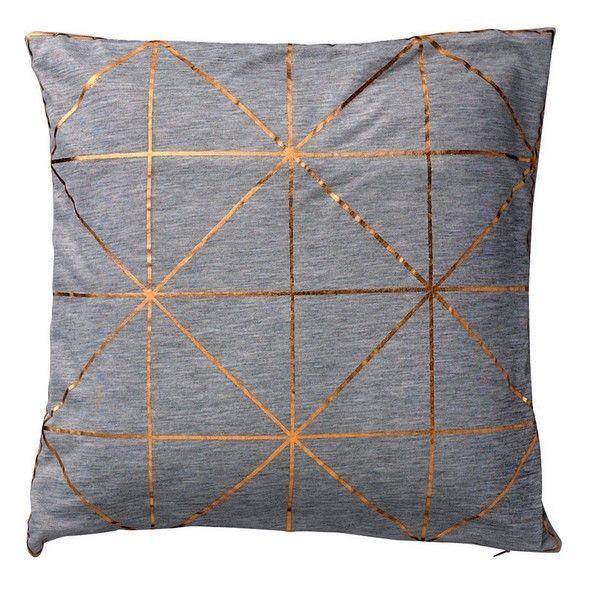Coussin bloomingville motifs géométriques cuivre Coton grismat…