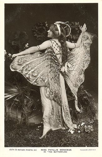 Vintage Butterfly Costume - from the back. Miss Phyliss Monkman 1910