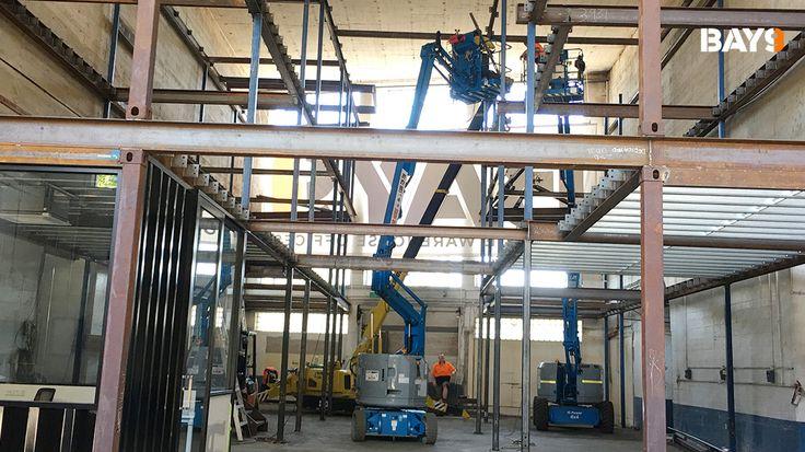Building Bay 9 - Steel framework going in! - #bay9