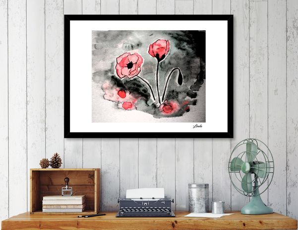 Discover «Poppies», Numbered Edition Fine Art Print by Linda Millar - From $19 - Curioos