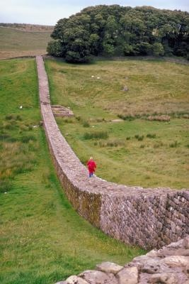 Tourists can hike the length of Hadrian's Wall, which begins in Newcastle-upon-Tyne.