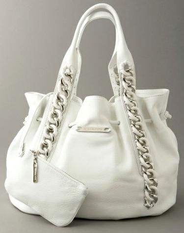 Michael Kors White Leather Bag - we love the look - stylish and elegant.