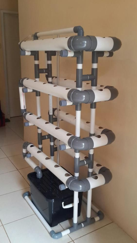 Kit Hidroponik NFT/DFT Pipa PVC 40 Lubang Fullset