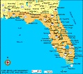 Map of Florida entered the union March 3, 1845 and was the 27th state to join.  The capital is Tallahassee.