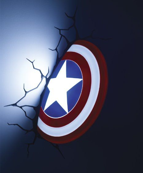 lansay 10154 ameublement et dcoration avengers bouclier de captain america 3d lumineux