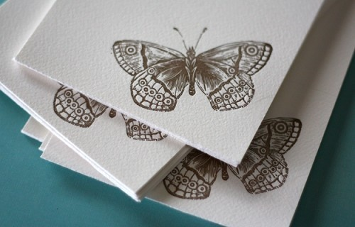 Sprint Butterfly Boxed Note by Dingbat Press #Stationery