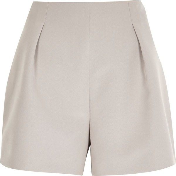 River Island Pink nude tailored smart shorts (£8) ❤ liked on Polyvore featuring shorts, bottoms, pink, sale, tailored shorts, pink shorts and river island