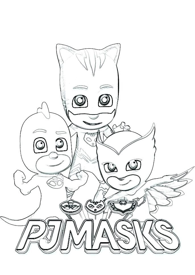 Coloring Pages Pj Masks For Coloring Gecko Pages New And From