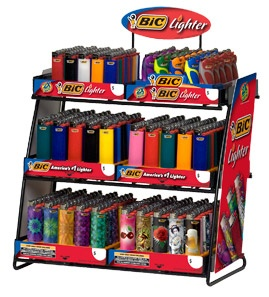 Powerhouse 6 Tier Lighter Display Bic Point Of Sale