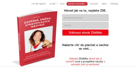 Štěpánka Čápová a její ebook ZDARMA: Úspěšná změna stravovacích návyků