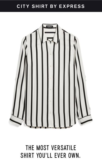 fe031c3efd9 Striped Satin Twill No Pocket City Shirt By Express
