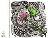 waterblossoms.blogspot.com: Zentangle Natural, Zentangleinspir Art, Zentangle Art, Bloom Zentangle