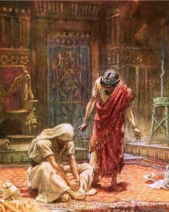 Sorrow of King David. Painting by Tissot (?)