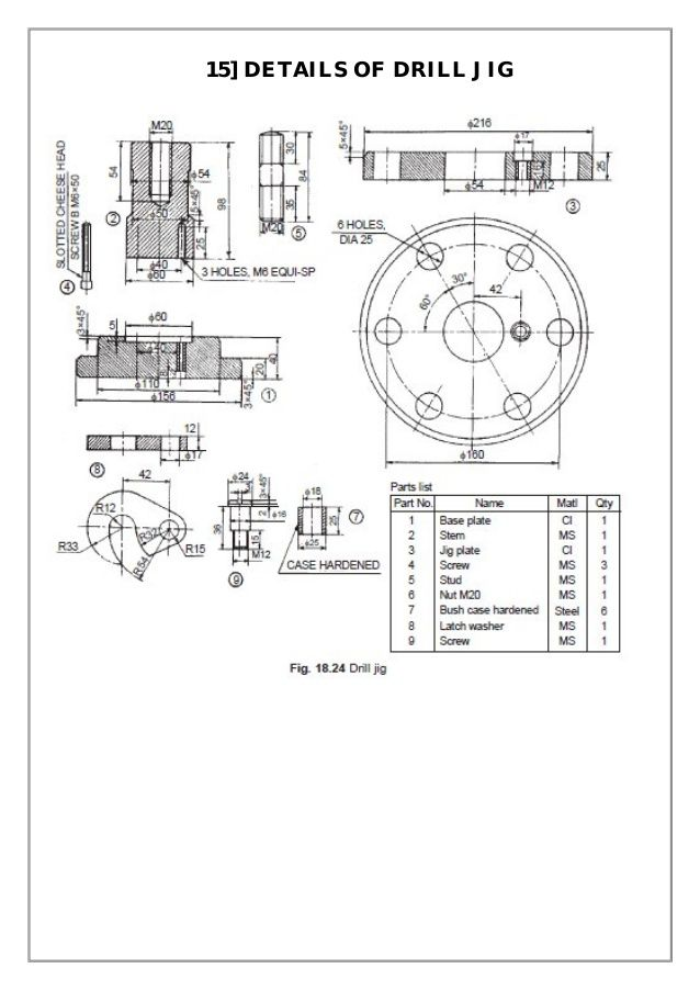 Assembly And Details Machine Drawing Pdf Drill Jig Mechanical Engineering Design Mechanical Design