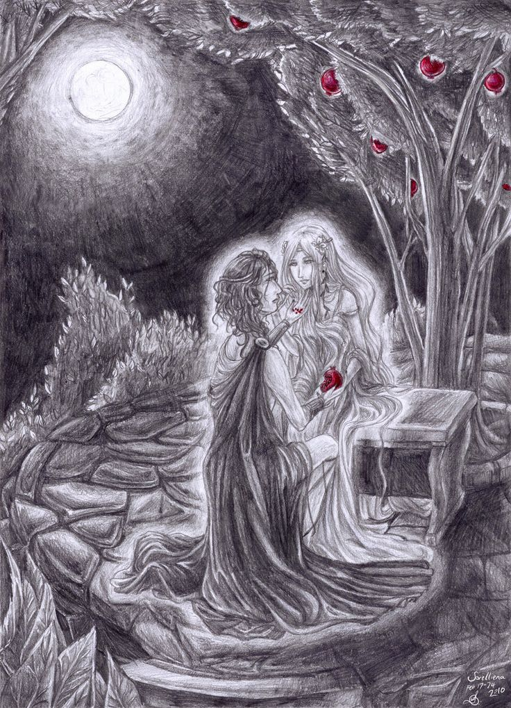 Hades and Persephone by Sorelliena.deviantart.com The Greco-Romans explained the passage of the seasons as Persephone's alternations between living with her mother, the fertility goddess Demeter( spring and summer) and her husband, Hades, who abducted her and would not give her up until Hermes and Zeus agreed that she should change homes every six months. This reflects the number of pomegranate seeds she ate while in The Underworld.