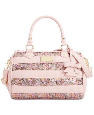 Betsey Johnson Stripe Sequin Satchel, A Macy's Exclusive Style
