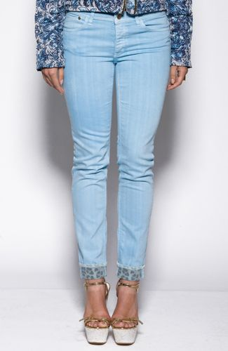 Just Cavalli jeans Faded denim jeans, rolled at leg bottoms with animal print detail. 77%COTTON23%ELASTANE Code: S02LA0051N30543