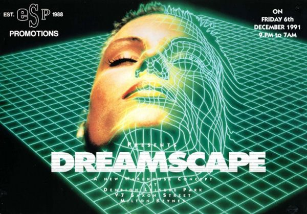 Flyer from a Dreamscape rave back when the Sanctuary hadn't yet been named! I was too young to go to this one but had all the tape packs!