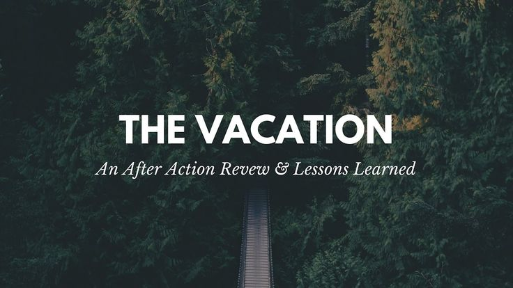 After Action Vacation Gear Review