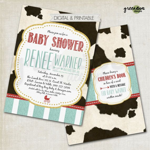 milkaholic baby shower invitation cow spots by GreenDotDesigns