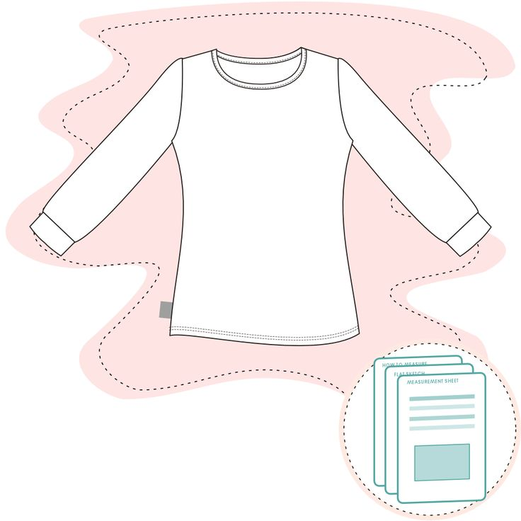 Tech Pack Template -  Girls Long Sleeve Tee Size range 2 – 10 Y Recommended fabric: Jersey 95% Cotton 2% Elastane. Or similar.  Ready-to-use documents for a perfect fit Documents are ready to send to manu…