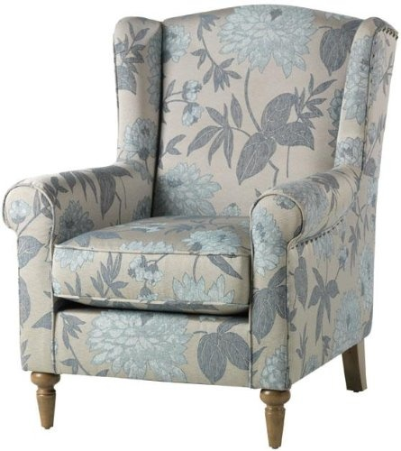 furniture discount collins wing back chair flowers living room - Arm Chairs Living Room